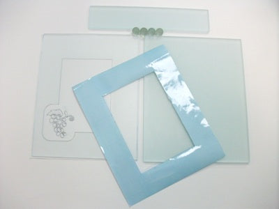 A1010 ETCHED AND READY TO PAINT GLASS KIT WITH BACK STENCIL