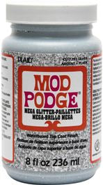 CS17293 PLAID MOD PODGE MEGA GLITTER 8 OZ.-PKG OF 3