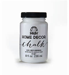 34150 FOLKART HOME DECOR CHALK PAINT WHITE ADIRONDACK 8 OZ.-PKG OF 3