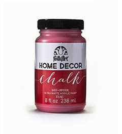 34153 FOLKART HOME DECOR CHALK PAINT IMPERIAL 8 OZ.-PKG OF 3
