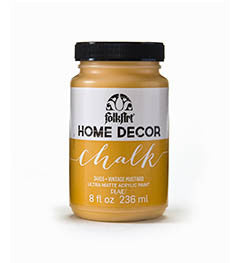 34155 FOLKART HOME DECOR CHALK PAINT VINTAGE MUSTARD 8 OZ.-PKG OF 3