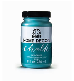 34159 FOLKART HOME DECOR CHALK PAINT CASCADE 8 OZ.-PKG OF 3