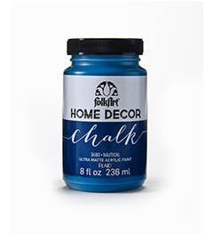 34161 FOLKART HOME DECOR CHALK PAINT NAUTICAL 8 OZ.-PKG OF 3