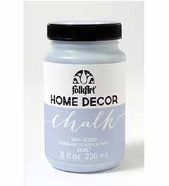 34162 FOLKART HOME DÉCOR CHALK PAINT GLACIER 8 OZ.-PKG OF 3