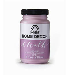 34163 FOLKART HOME DECOR CHALK PAINT LILAC 8 OZ.-PKG OF 3