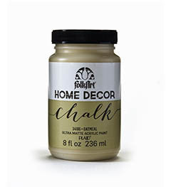 34166 FOLKART HOME DECOR CHALK PAINT OATMEAL 8 OZ.-PKG OF 3