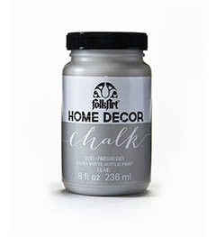 34167 FOLKART HOME DECOR CHALK PAINT PARISIAN GREY 8 OZ.-PKG OF 3
