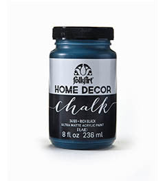 34169 FOLKART HOME DECOR CHALK PAINT JET BLACK 8 OZ.-PKG OF 3