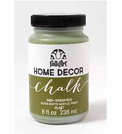 34801 FOLKART HOME DÉCOR CHALK PAINT SPANISH MOSS 8 OZ.-PKG OF 3