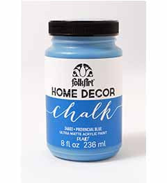 34802 FOLKART HOME DÉCOR CHALK PAINT PROVINCIAL BLUE 8 OZ.-PKG OF 3