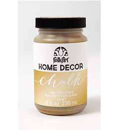 34804 FOLKART HOME DÉCOR CHALK PAINT METALLIC GOLD 8 OZ.-PKG OF 3