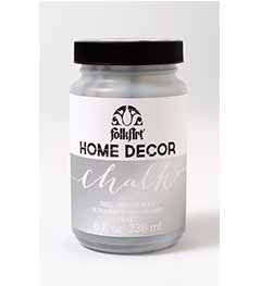 34805 FOLKART HOME DÉCOR CHALK PAINT METALLIC SILVER 8 OZ.-PKG OF 3