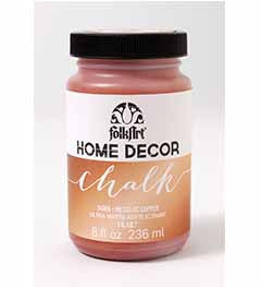 34806 FOLKART HOME DÉCOR CHALK PAINT METALLIC COPPER 8 OZ.-PKG OF 3