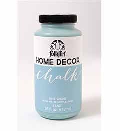 34843 FOLKART HOME DÉCOR CHALK PAINT CASCADE 16 OZ.-PKG OF 3