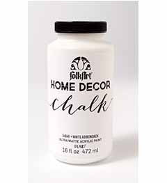 34846 FOLKART HOME DÉCOR CHALK PAINT WHITE ADIRONDACK 16 OZ.-PKG OF 3