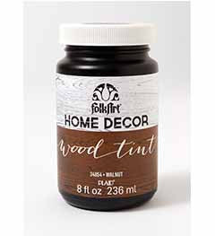 34854 FOLKART HOME DÉCOR WOOD TINT WALNUT 8 OZ.-PKG OF 3