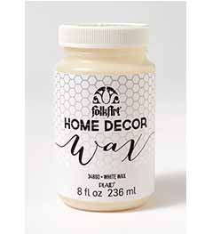 34860 FOLKART HOME DÉCOR CHALK PAINT WAX WHITE 8 OZ.-PKG OF 3