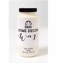 34863 FOLKART HOME DÉCOR CHALK PAINT WAX CLEAR 16 OZ.-PKG OF 3