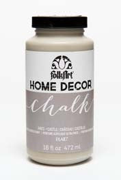 34873 FOLKART HOME DÉCOR CHALK PAINT CASTLE 16 OZ.-PKG OF 3