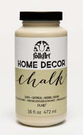 34874 FOLKART HOME DÉCOR CHALK PAINT OATMEAL 16 OZ.-PKG OF 3