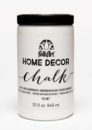34878 FOLKART HOME DÉCOR CHALK PAINT WHITE ADIRONDACK 32 OZ.-PKG OF 3