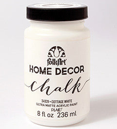 34929 FOLKART HOME DÉCOR CHALK PAINT COTTAGE WHITE 8 OZ.-PKG OF 3