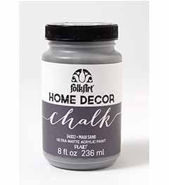 34932 FOLKART HOME DECOR CHALK PAINT MAUI SAND 8 OZ.-PKG OF 3