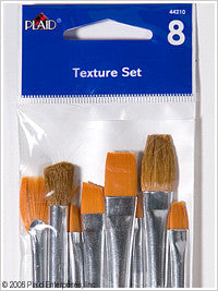 44210 PLAID BRUSH SETS-TEXTURE BRUSH SET OF 8-PKG OF 3