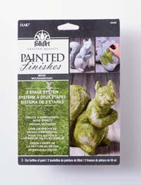 5068 FOLKART PAINTED FINISHES-FAUX MOSS SET OF TWO 2 OZ. BOTTLES-PKG OF 3