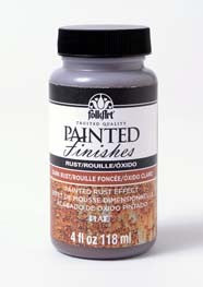 5103 FOLKART PAINTED FINISHES 4 OZ. KIT-DARK RUST-PKG OF 3