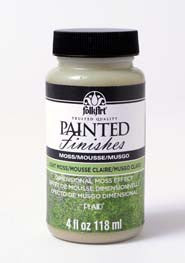 5104 FOLKART PAINTED FINISHES 4 OZ. KIT-LIGHT MOSS-PKG OF 3