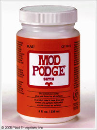 CS11272 PLAID MOD PODGE DECOUPAGE SATIN 8 OZ.-PKG OF 3