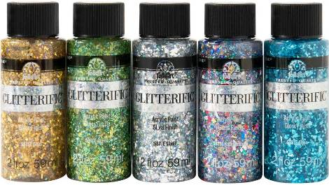 PROMOFAGL02 FOLKART GLITTERIFIC ENCHANTED UNICORN PAINT SET OF 5-OZ. BOTTLES