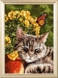 WM45700 BUCILLA COUNTED CROSS  STITCH-MINI-AFTERNOON NAP