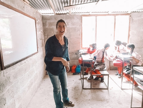 Michele in Napal Teaching English in School