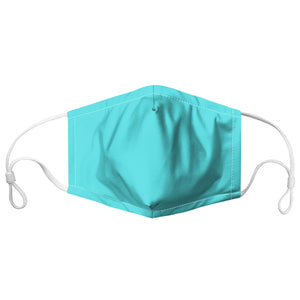 Aqua Colour-block Face Mask With Filter Pocket