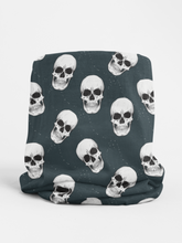 Load image into Gallery viewer, Navy Skulls Tubular Bandana Neck Warmer Face Covering