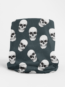 Navy Skulls Tubular Bandana Neck Warmer Face Covering