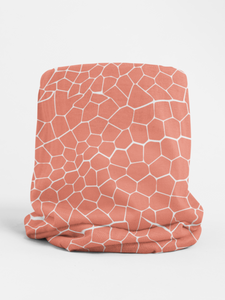Pink Snakeskin Tubular Bandana Neck Warmer Face Covering