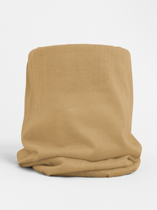 Beige Colour-block tubular Bandana Neck Warmer Face Covering