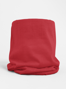Red Colour-block tubular Bandana Neck Warmer Face Covering