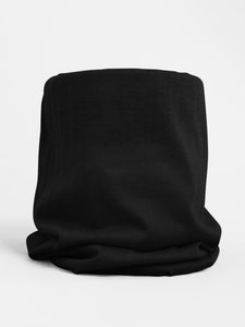 Black Colour-block tubular Bandana Neck Warmer Face Covering