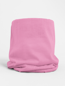 Pink Colour-block tubular Bandana Neck Warmer Face Covering