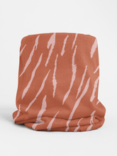 Load image into Gallery viewer, Pink Zebra Tubular Bandana Neck Warmer Face Covering