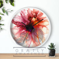 Dancing Petals - BELLA - Wall clock 10""