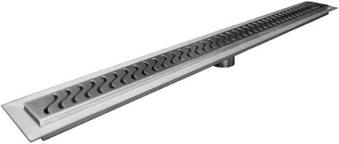 TRU-LINE Linear Drain by Trugard, S Grate Style, Drain body and Grate Assembly Included, (Similar to KERDI-LINE)