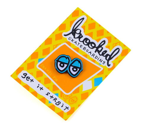 Krooked Eyes Pin Blue