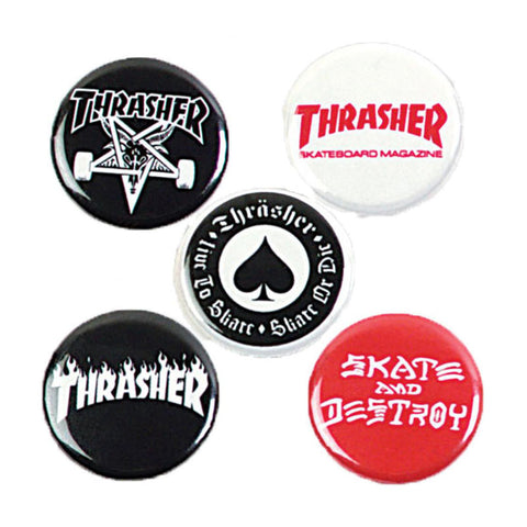 Thrasher Pin Badge Set