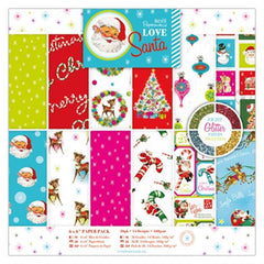 6 x 6 in Paper Pack-Love Santa