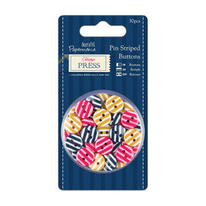 Buttons-Pin Striped (Heritage Press)